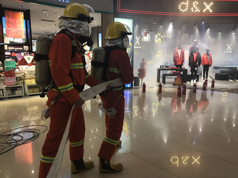 全省大型商业综合体灭火救援演练在济南举行