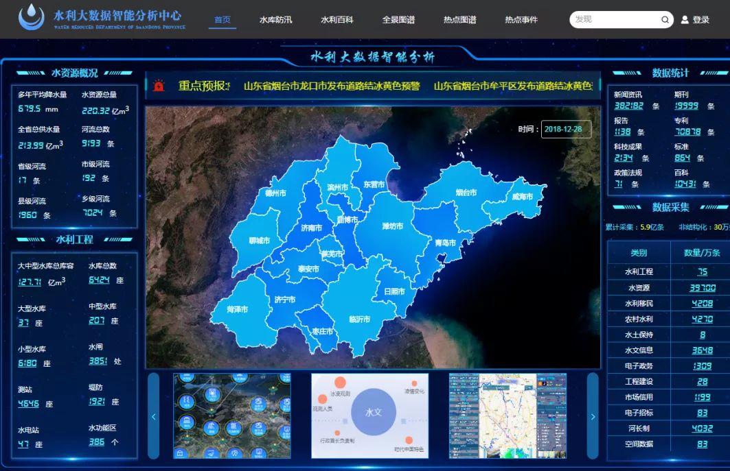 山东率先开展水利大数据分析与智能应用项目建设