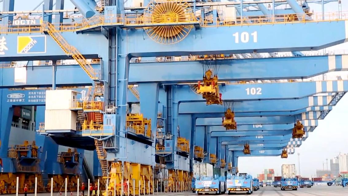 40秒丨开门红!青岛港自动化集装箱码头单机平均效率刷新世界纪录