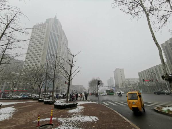 菏泽迎来2019年首场降雪 最高温度为5℃