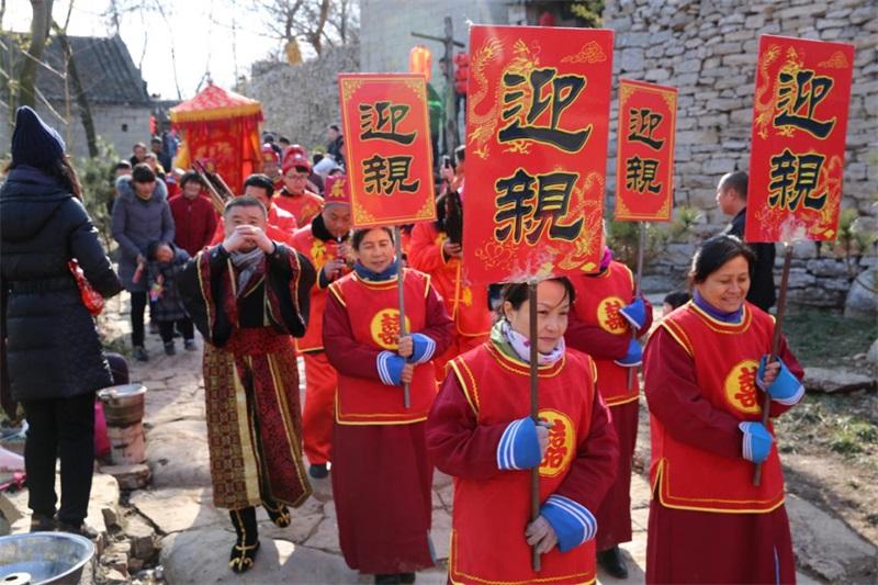 宋朝元素古风场景 邹城上九山村古庙会春节来袭