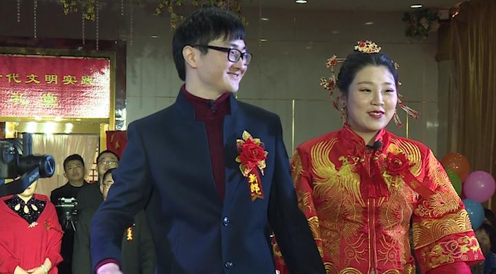 66秒丨淄博:婚礼现场赠送植树证 新时代的新婚礼要有新风尚