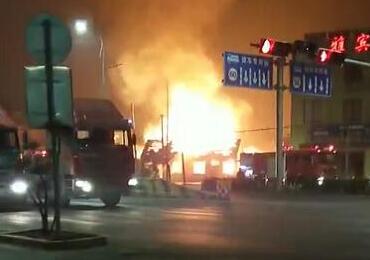 青岛黄岛区一加气站平房起火 已被扑灭无伤亡