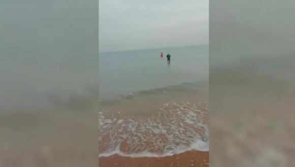 青岛59岁保安大叔不畏寒冰  跳下海中救起轻生女子