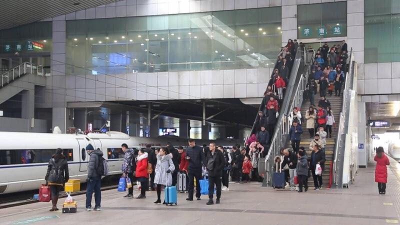 济南铁路7天累计发送旅客227万人 日均32.4 万人次