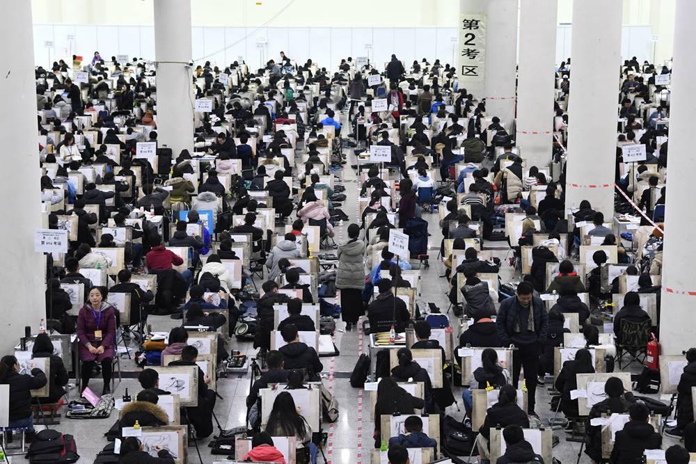 90秒|直击现场!7.6万艺考生报考新开户送体验金工艺美院创历史新高