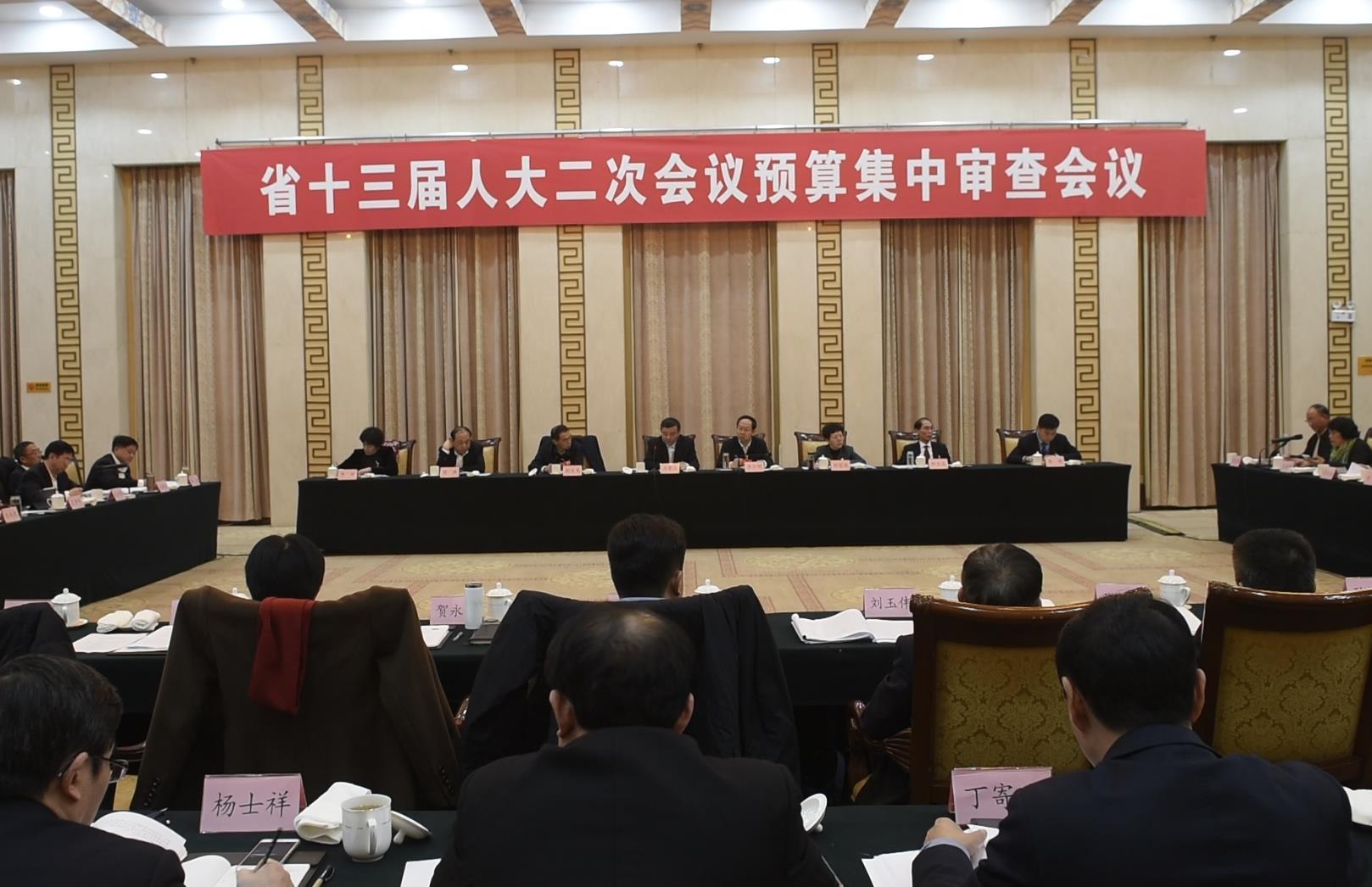 省十三届人大二次会议对政府预算报告和预算草案开展集中审查