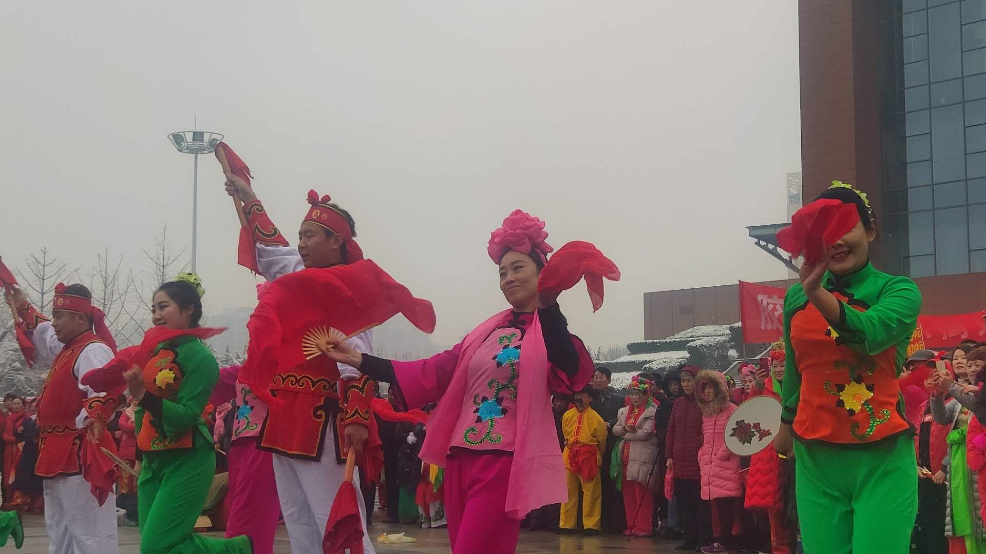 青岛胶州:扭起秧歌贺新春