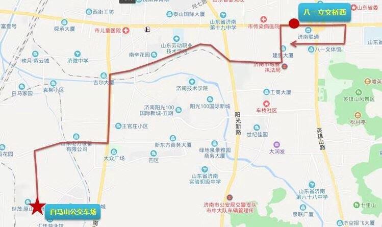 3月19日,济南公交开通勤快速巴士T27路线
