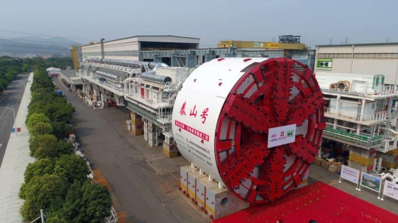 """新进展!济南黄河隧道工程""""泰山号""""盾构机成功下线"""