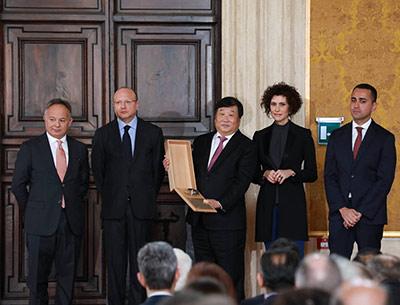 潍柴集团、意大利法拉帝集团董事长谭旭光荣获意大利莱昂纳多国际奖