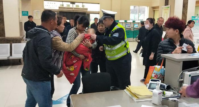 交警速度!30分钟路途仅用时10分钟,莘县一岁受伤幼儿及时获救