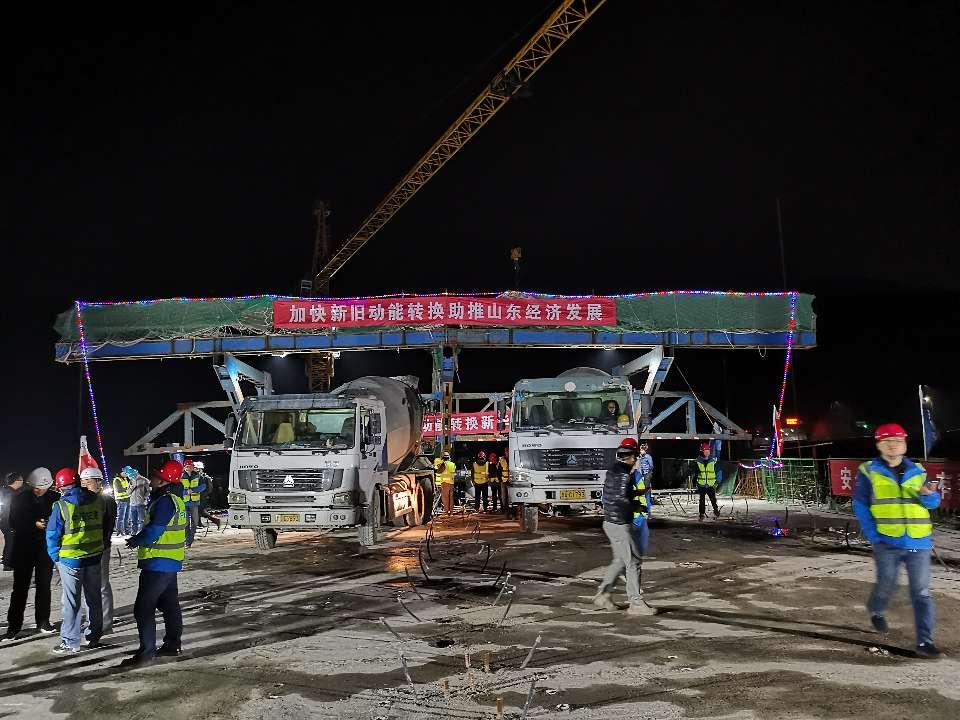 滨莱高速公路改扩建最高桥今晨合拢 全线9月份通车