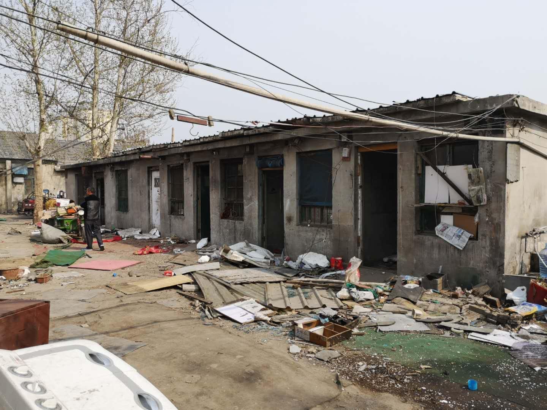 济南拆除桑园路附近2000余平方米违建