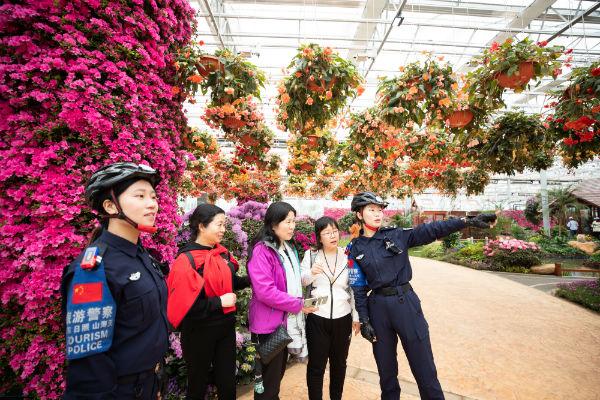 山海天公安分局圆满完成第十六届杜鹃花展览会开幕式安保任务