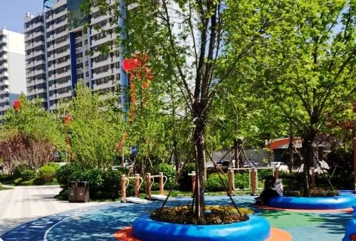 """WIFI覆盖、健康慢跑道……潍坊高新区首个规划配建城市公园""""五一""""亮相"""
