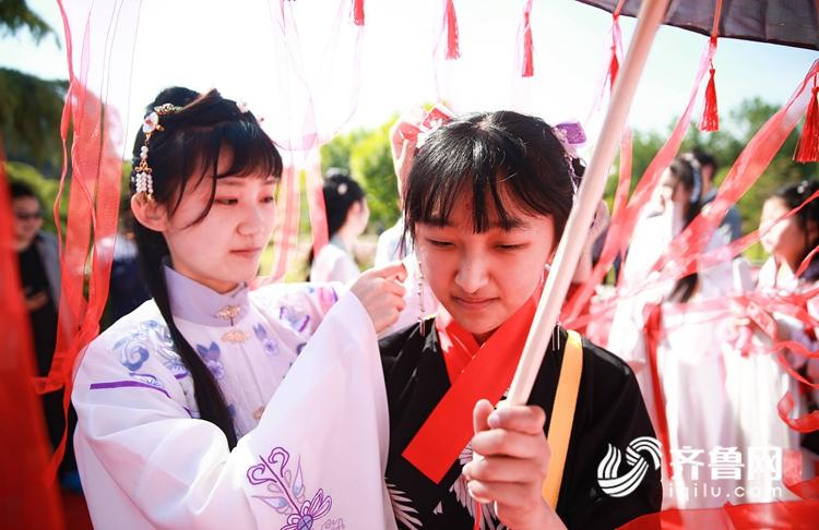 沂蒙山下汉服巡游、女子礼射、汉服舞蹈传统服饰展示