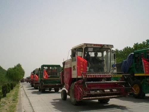 12月31日前,山东省联合收割机免收通行费