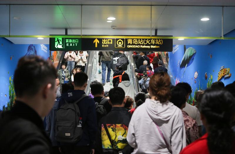 4天近263万人次!青岛地铁交出五一客流成绩单