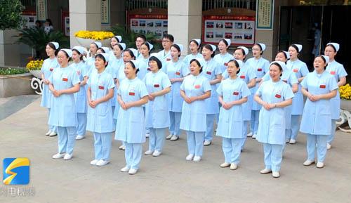 """5.12国际护士节丨滨州:""""快闪秀""""秀出白衣天使的青春活力"""