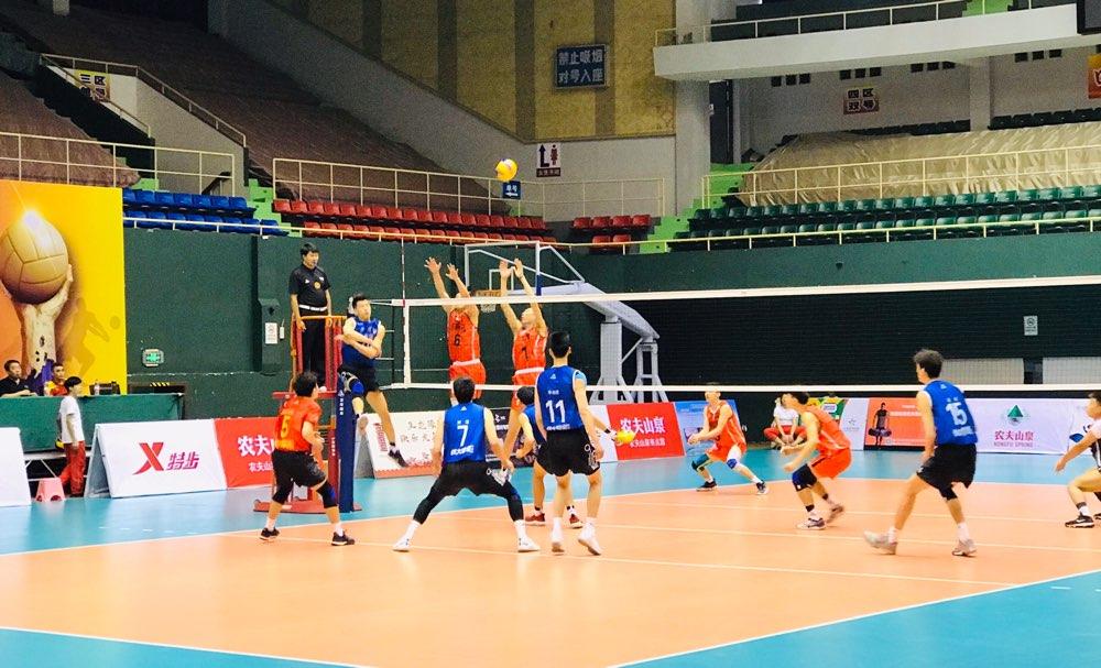 2019全国男排冠军赛:山东队3-0河南队提前两轮小组出线