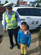 走失儿童误上高速路!菏泽高速交警及时救助