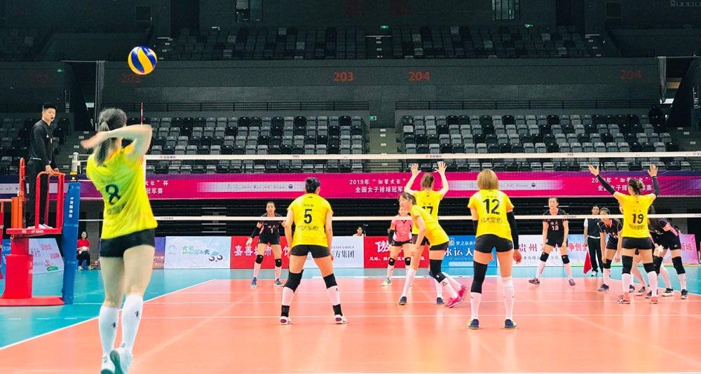 全国女排冠军赛:山东3-0轻取广东 锁定小组第一出线
