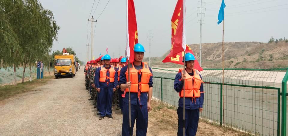 南水北调聊城段举行2019年度防汛应急演练