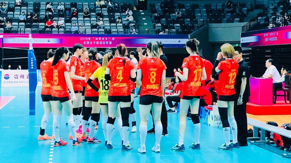 全国女排冠军赛:山东队3-0北京队顺利杀入四强