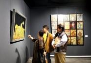 组图丨108件精美漆画亮相潍坊 市民可在5月23日前到十笏园免费参观
