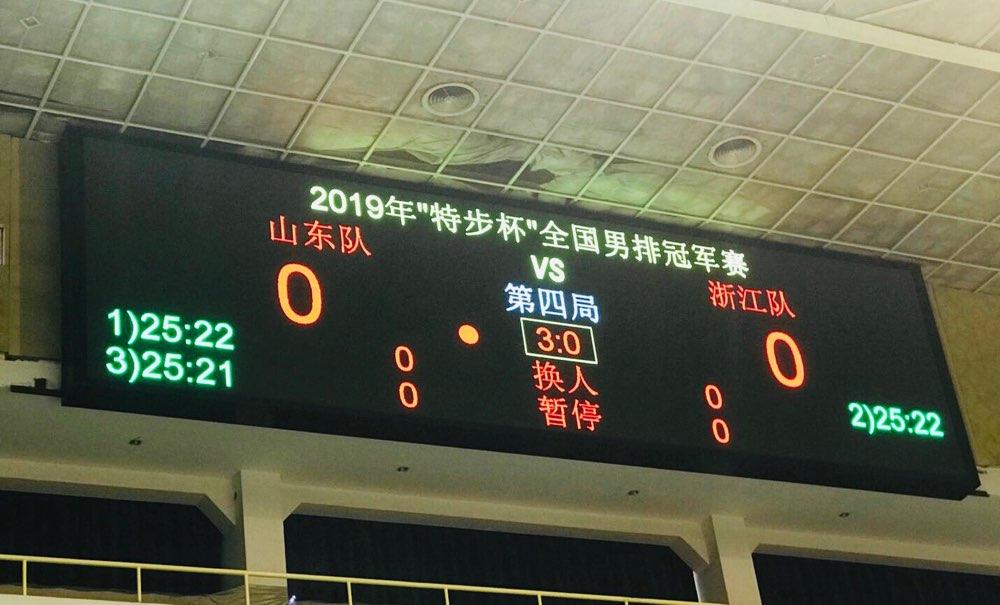 全国男排冠军赛 山东男排3:0浙江挺进四强