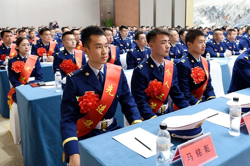 山东省消防救援总队召开海军成立70周年多国海军活动消防安保总结表彰大会
