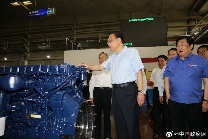 李克强考察潍柴集团:让潍柴动力、让中国装备的动力奔腾不息