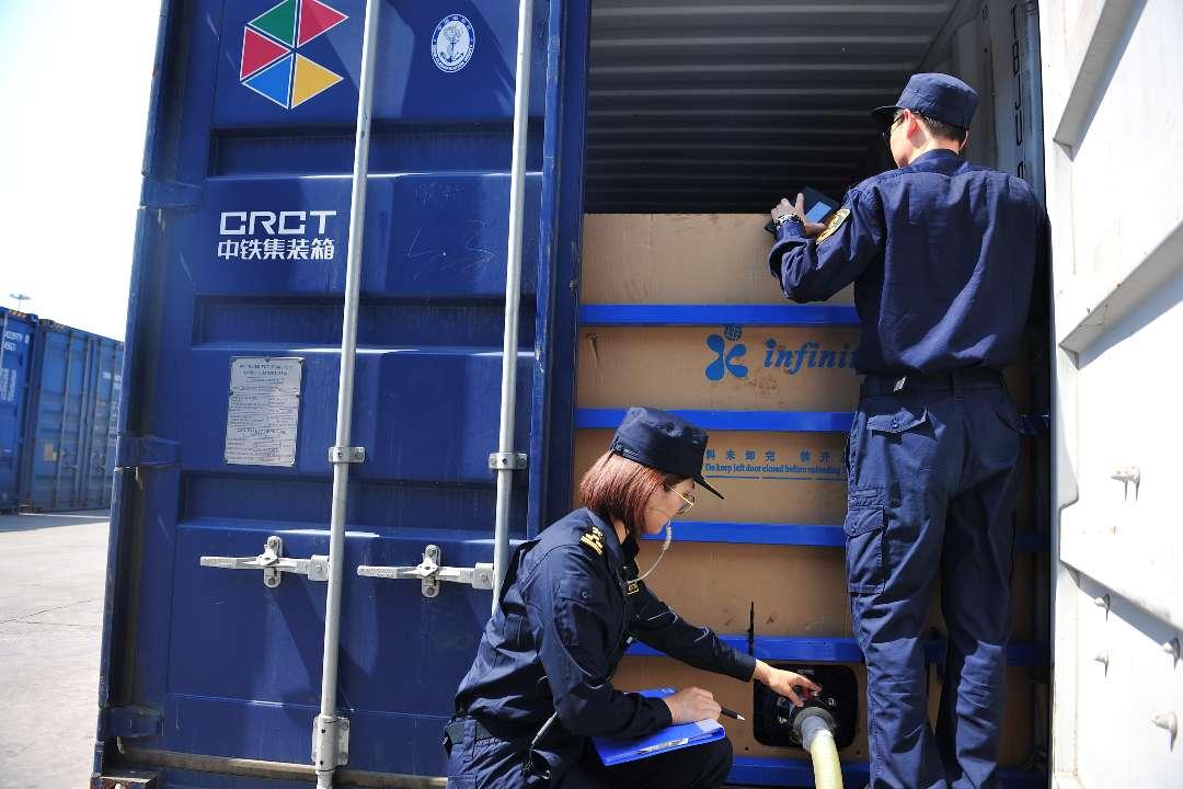 前4月青岛多式联运海关监管中心发送国际班列8000余标箱