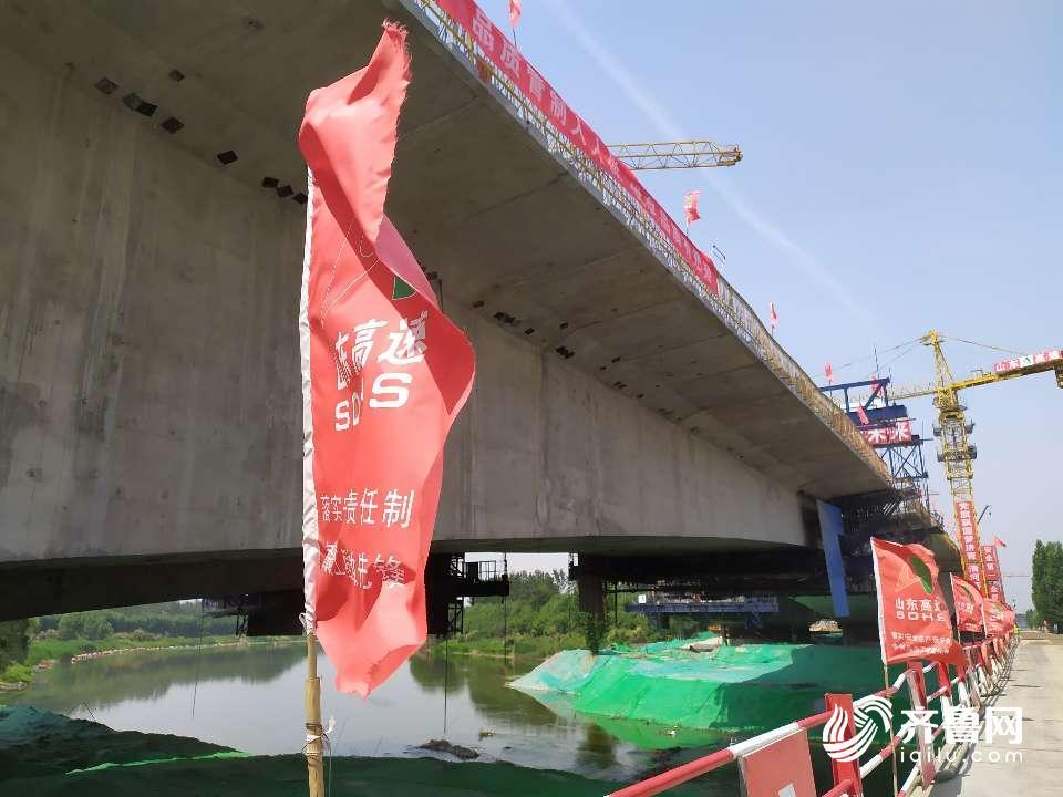繼續衝刺!濟青高速小許家以東段確保在今年7月底建成通車