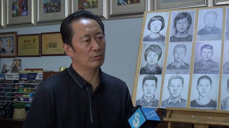 """专访济南""""神笔警探""""林宇辉:用画笔""""找回""""5位走失儿童"""