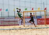 第七届亚洲沙滩手球锦标赛在威海南海开赛