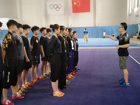山东武术小将备战二青会决赛 目标高远向冠军冲刺