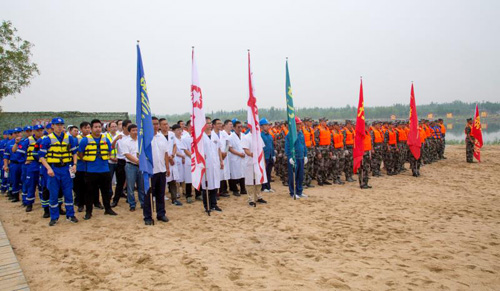 2019年滨州市防汛抢险应急救援演练在博兴县举行