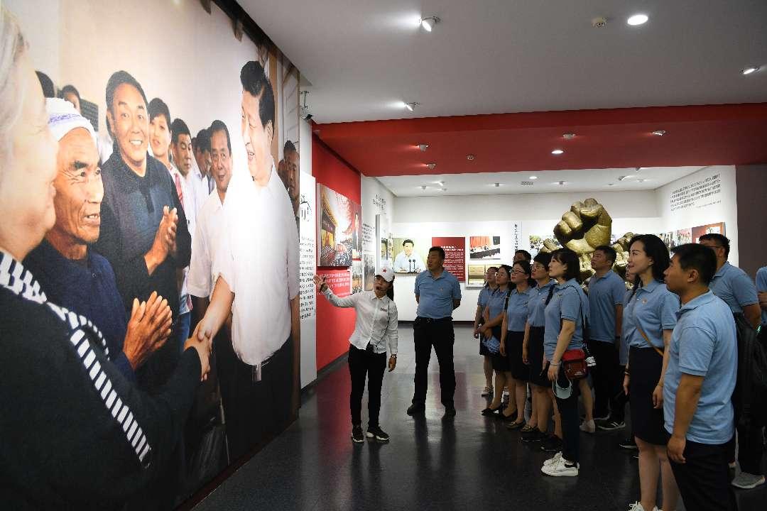 中铁十四局海外公司党员干部赴西柏坡接受革命传统教育