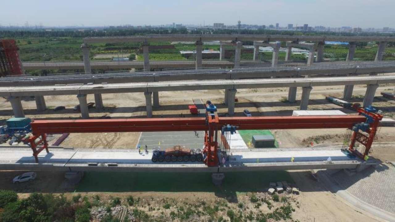 52秒|2020年通车!潍莱高铁首个标段箱梁架设全面完成
