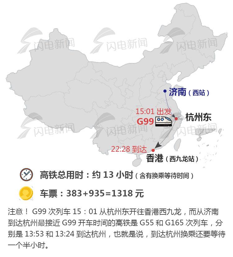 7月10日铁路调图,济南人去香港再增新线路(附6条线路图+票价)