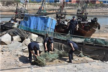 上半年日照查处伏季休渔违规渔船96艘 清理取缔违规网具1853张