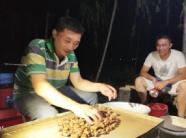 宁阳这个村河滩里建金蝉养殖基地,村民晚上摸蝉还算工钱