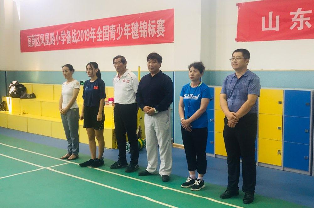 济南毽球少年备战2019年全国青少年毽球锦标赛