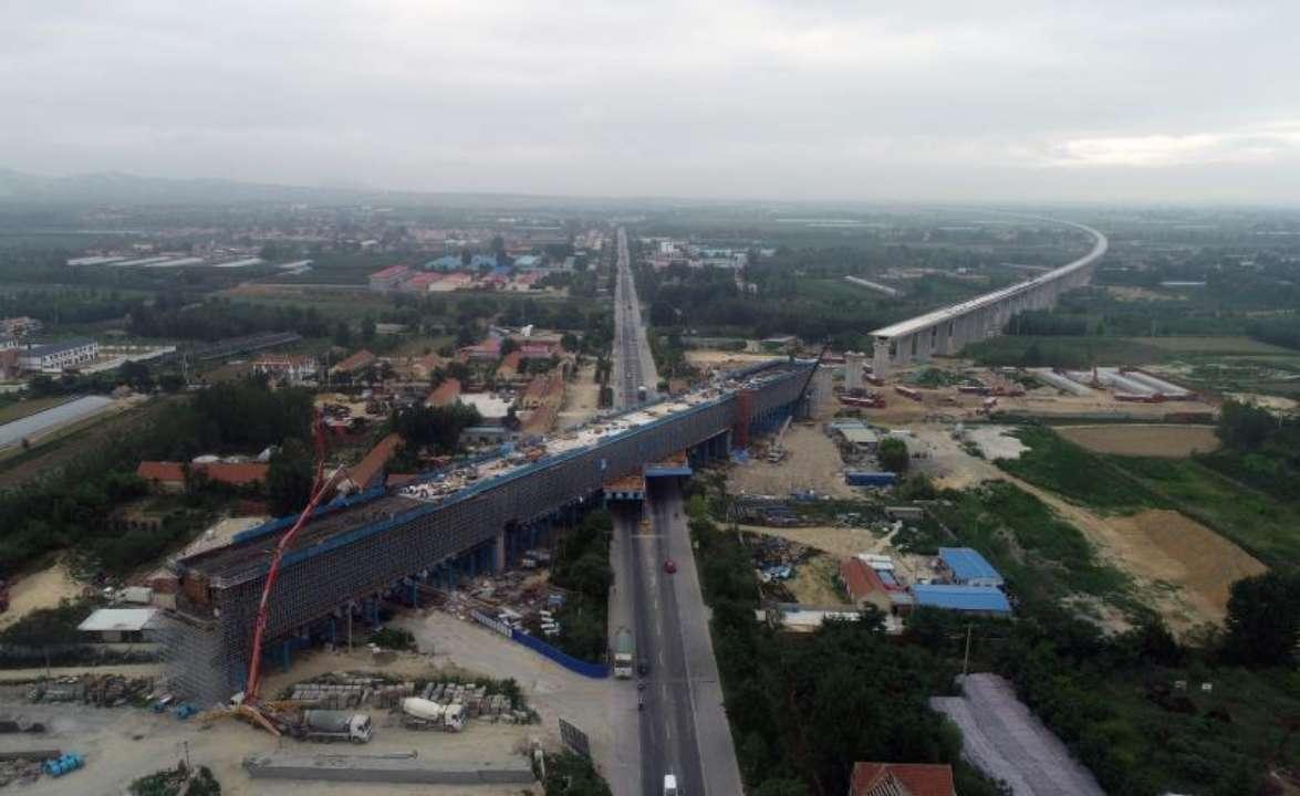 提前两个月!潍莱高铁全长221米连续梁顺利完成