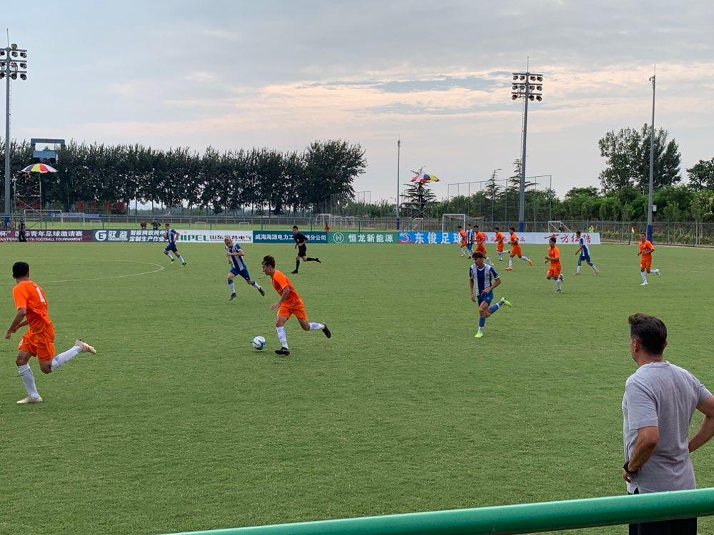 潍坊杯战报丨山东鲁能2:7西班牙人 小将阿卜杜连续进球
