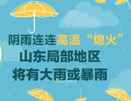 """闪电指数丨阴雨连连高温""""熄火"""" 山东局部地区仍将有大雨或暴雨"""