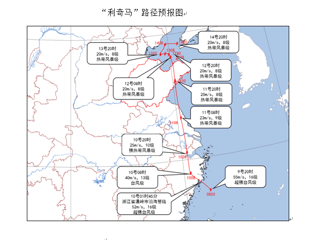 """山东省气象台发布台风黄色预警:""""利奇马""""11日夜间在青岛至日照沿海一带登陆"""