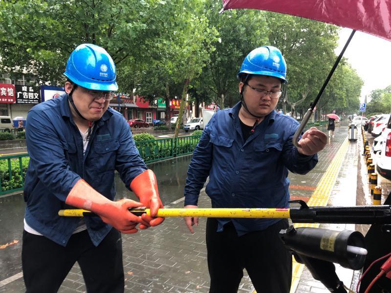 """""""利奇马""""过境淄博480户居民用电受影响 电力部门正在抢修"""